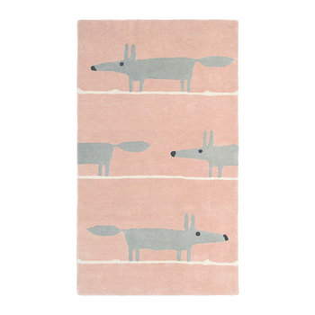 Mr Fox Rug - Blush