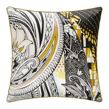 Salome Silk Cushion - Black