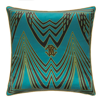 Deco Silk Cushion - Teal