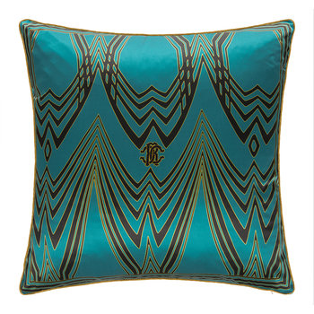 Deco Silk Pillow - Teal