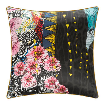 Nimphea Silk Pillow - Black