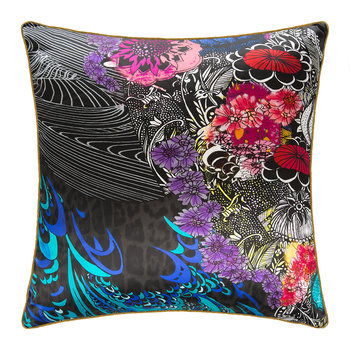 Nimphea Silk Cushion - Black
