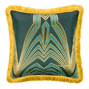 Deco Jacquard Cushion - 40x40cm - Teal