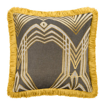 Deco Jacquard Cushion - 40x40cm - Beige