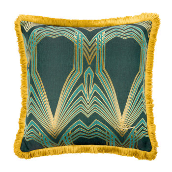Deco Jacquard Pillow - 60x60cm - Teal