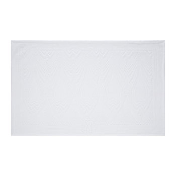 Deco Bath Mat - White