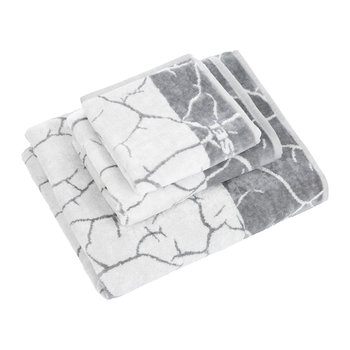 Crackle Handtuch - Grau