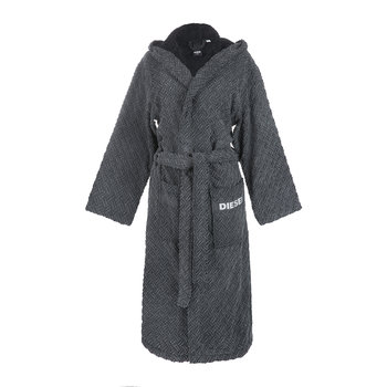 Stage Hooded Bathrobe - Grey