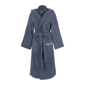 Stage Hooded Bathrobe - Indigo