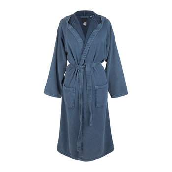 Soft Hooded Bathrobe - Denim