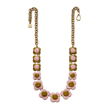 Flower Necklace - Pink & Green