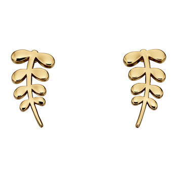 Gold Plated Buddy Leaf Stud Earrings - Gold Plated