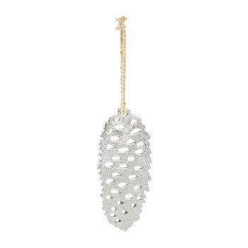 Silver Pinecone Tree Decoration