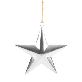 Silver 3D Star Hanging Ornament