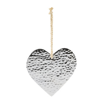Silver Heart Hanging Ornament