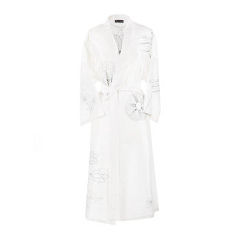 Embroidered Silk Bathrobe