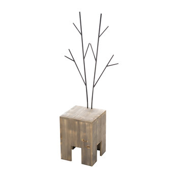 Wooden Deer Stool