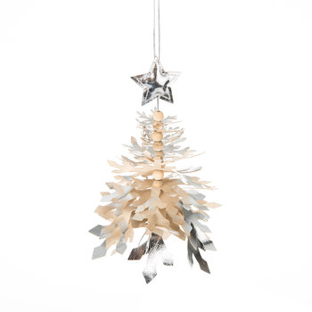 Hanging Silver Tree Decoration