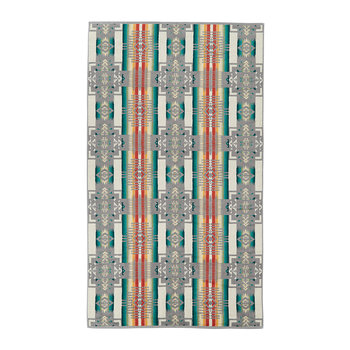 Oversize Jacquard Beach Towel - Grey