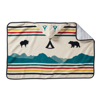 Printed Hooded Children's Towel - Glacier