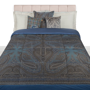 Borgetto Quilted Bedspread - 270x270cm - Blue