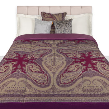 Borgetto Quilted Bedspread - 270x270cm - Purple