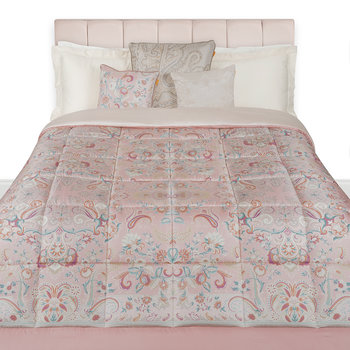 Taverny Quilted Bedspread - 270x270cm - Pink