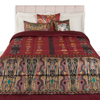 Bukhara Quilted Bedspread - 270x270cm - Red