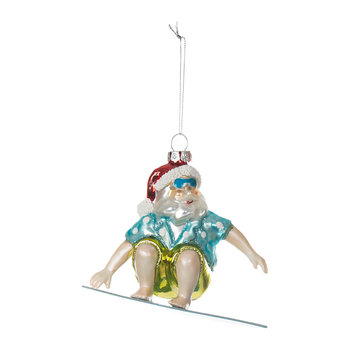 Surfing Santa Tree Decoration