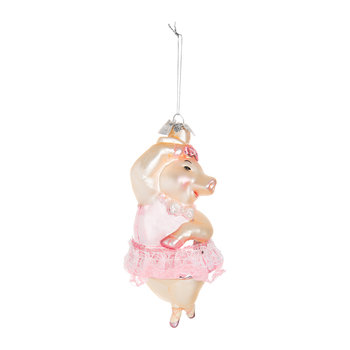 Noble Gems Dancing Pig Tree Decoration