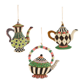 Wonderland Teapot Tree Decorations - Set of 3
