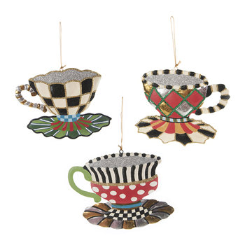 Wonderland Teacup Tree Decorations - Set of 3