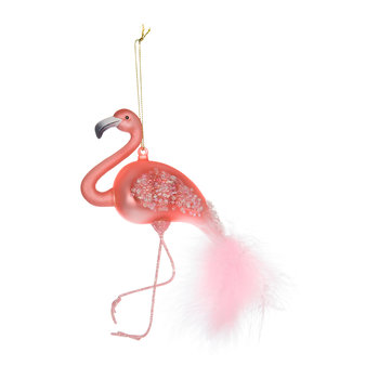 Feather Tail Flamingo Tree Decoration
