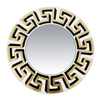 Greca Convex Mirror - Gold/White