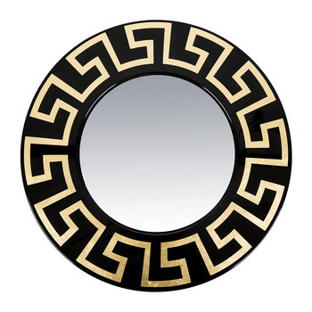 Greca Convex Mirror - Gold/Black