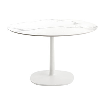 Multiplo Round Marble Side Table - White