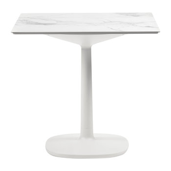Multiplo Square Marble Side Table - White