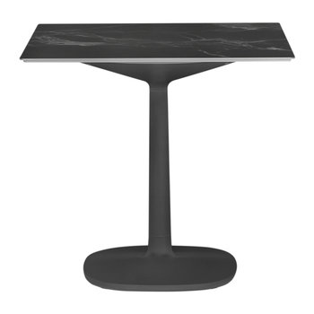 Multiplo Square Marble Side Table - Black