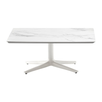 Multiplo Square Marble Coffee Table - White