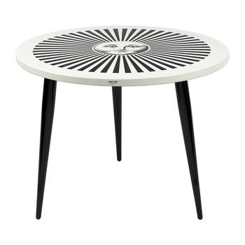 Sole Raggiante Table with Wooden Legs - 60cm Dia