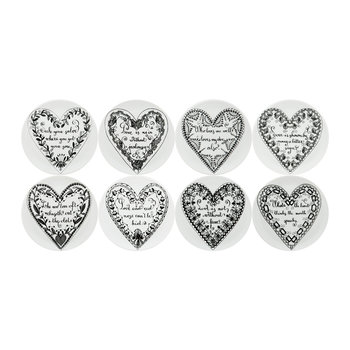 Love Set of 8 Coasters