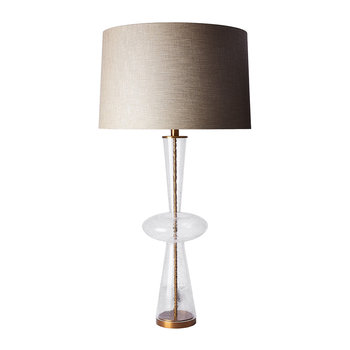 Cornelius Table Lamp - Clear/Linen