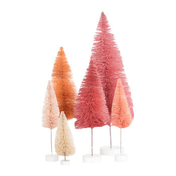 Set of 6 Tree Ornaments - Pinks