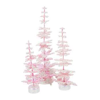 Enchanted Trees Ornaments - Pink