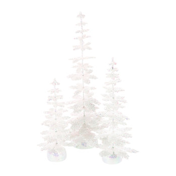 Enchanted Trees Ornaments - White