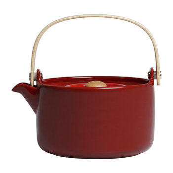 Oiva Stoneware Teapot - Deep Red