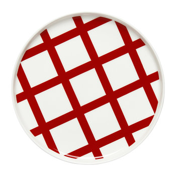 Spalje Plate - 20cm - Red/White