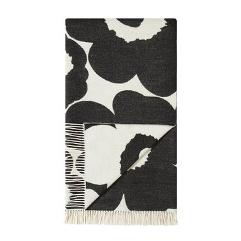 Unikko Blanket - White/Black
