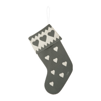 Fairisle Heart Stocking