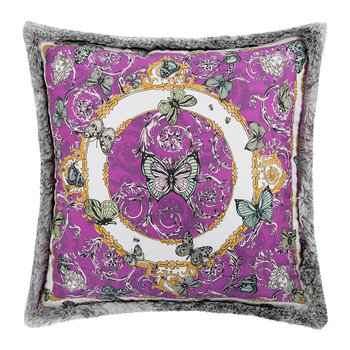 Le Jardin Silk Reversible Pillow - 30x30cm - Pink